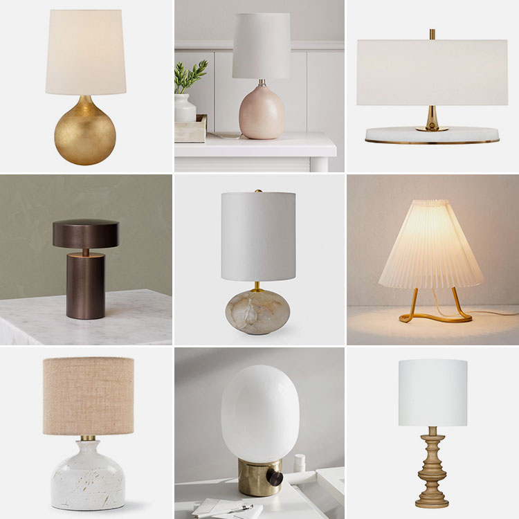 Mini Table Lamps, My Newest Decor Crush! Small lamps to add personality to any space. Shopping sources for tiny lamps, perfect for a credenza, night stand or small space. #lighting #tablelamps #lamps