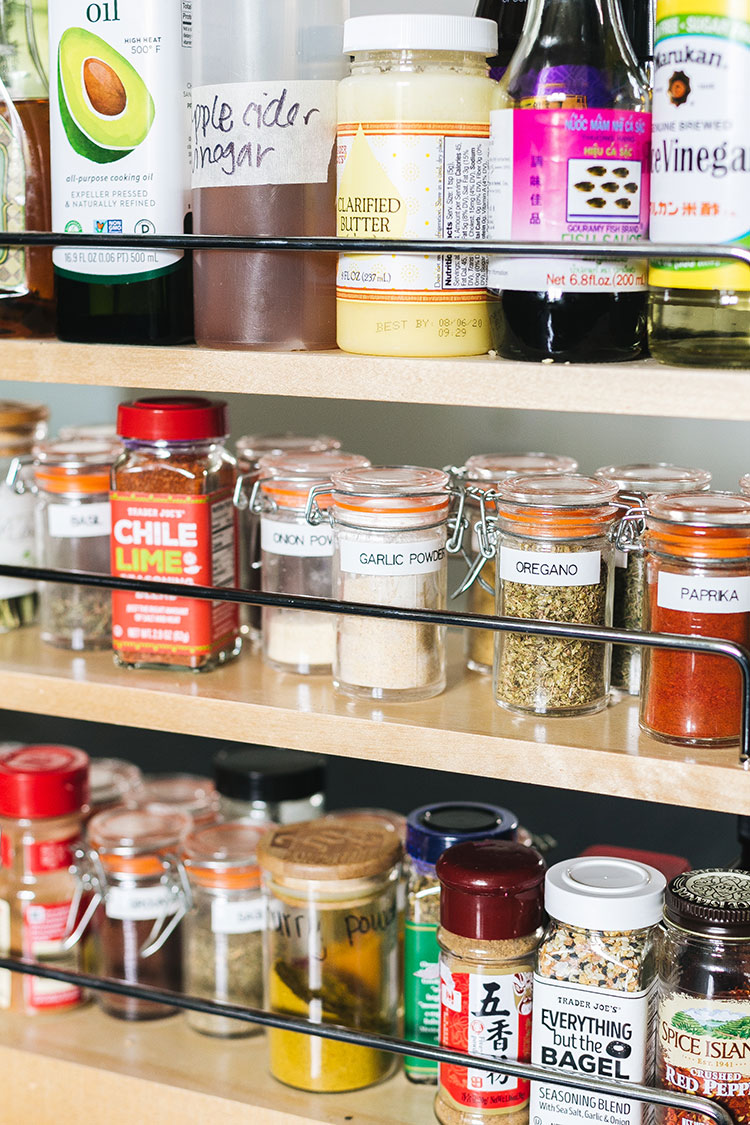 Herbs and Spices That I Always Keep on Hand for a Well-Stocked Kitchen. Must-have herbs, spices, spice mixes, salts, and pepper for cooking and baking. Pantry staples for cooking + a look inside my spice rack #pantryessentials #pantrystaples #pantry #grocerylist #groceryshopping #herbs #herbsandspices #spicedrawer