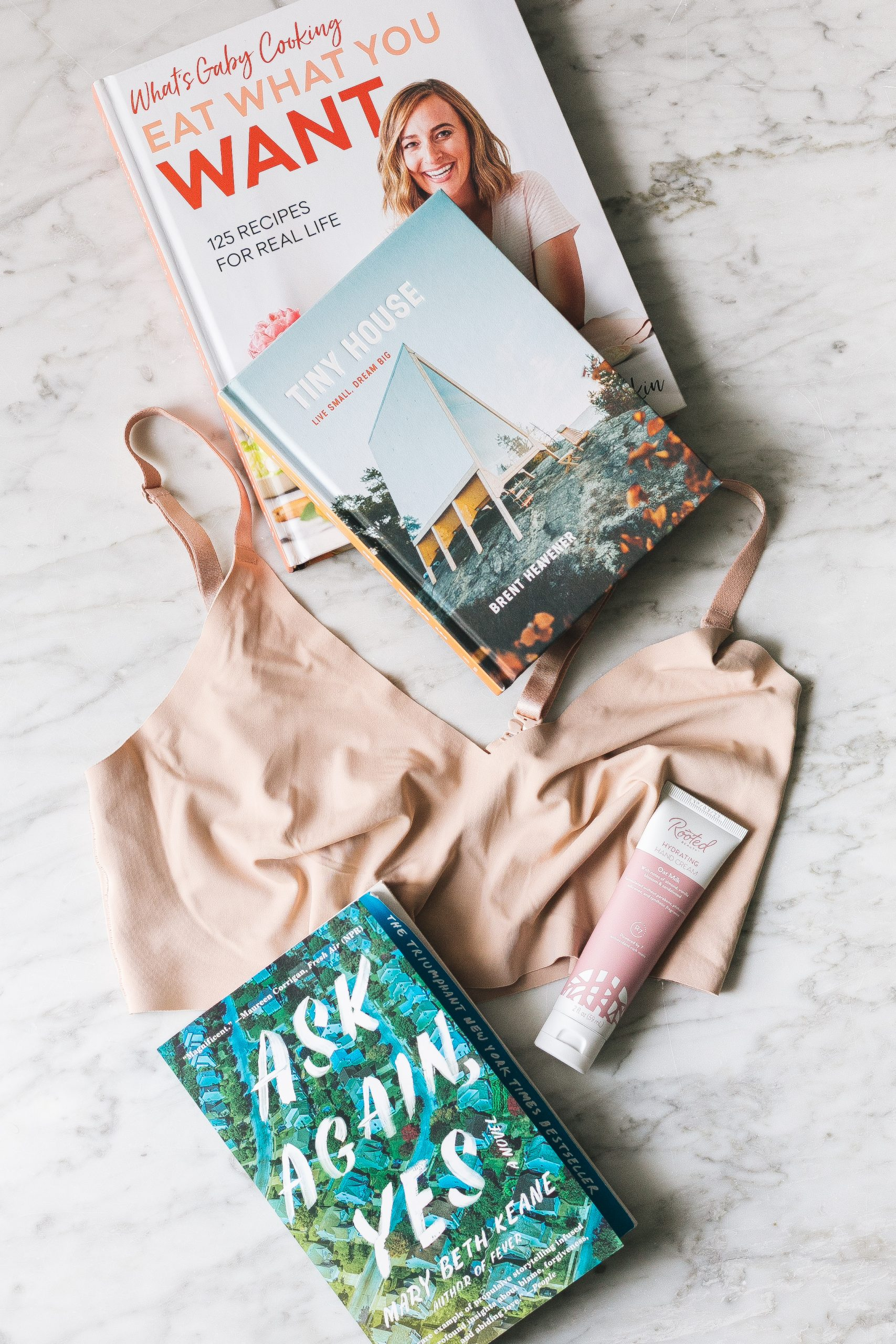 Joanna's Things of Note from May 2020 (including True&Co. bralette, Gaby Dalkin's new cookbook Eat What You Want, Tiny House book, a must-read novel & more) #thingsofnote #shopping #shoppingguide #musthaves #favoriteproducts