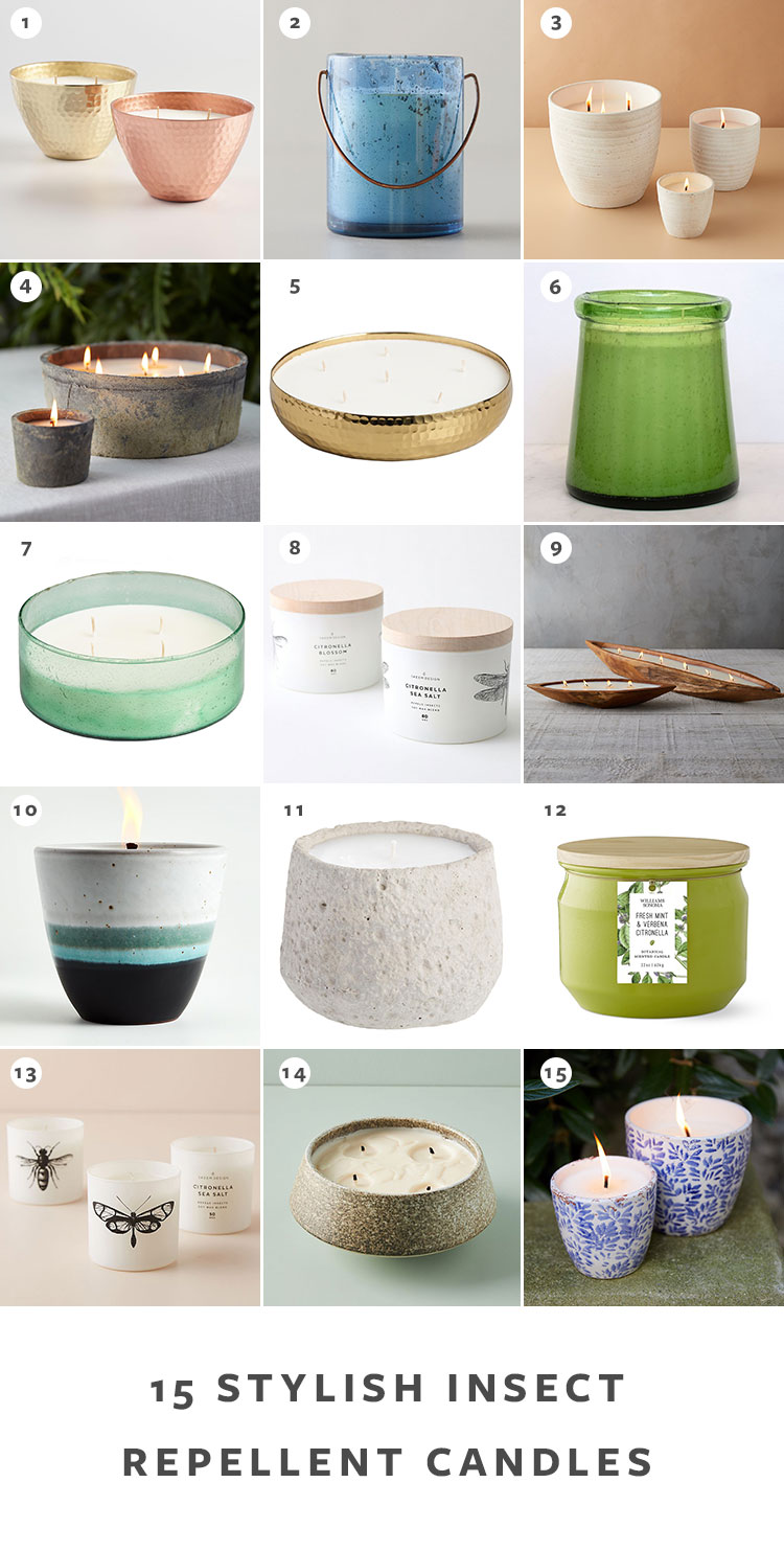 Repel Bugs All Summer With These Stylish Insect Repellent Candles including citronella candles and modern outdoor candles. Get the full round up + links on jojotastic.com