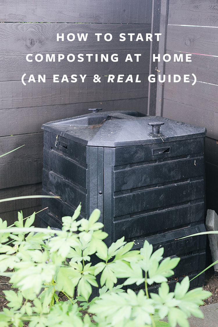 My Easy (and Real) Guide To Start Composting At Home! How to get started composting, what to compost, what not to compost, which compost bins to buy and more! An easy guide to help you live a more eco-friendly and sustainable lifestyle #compost #composting #vermiculture
