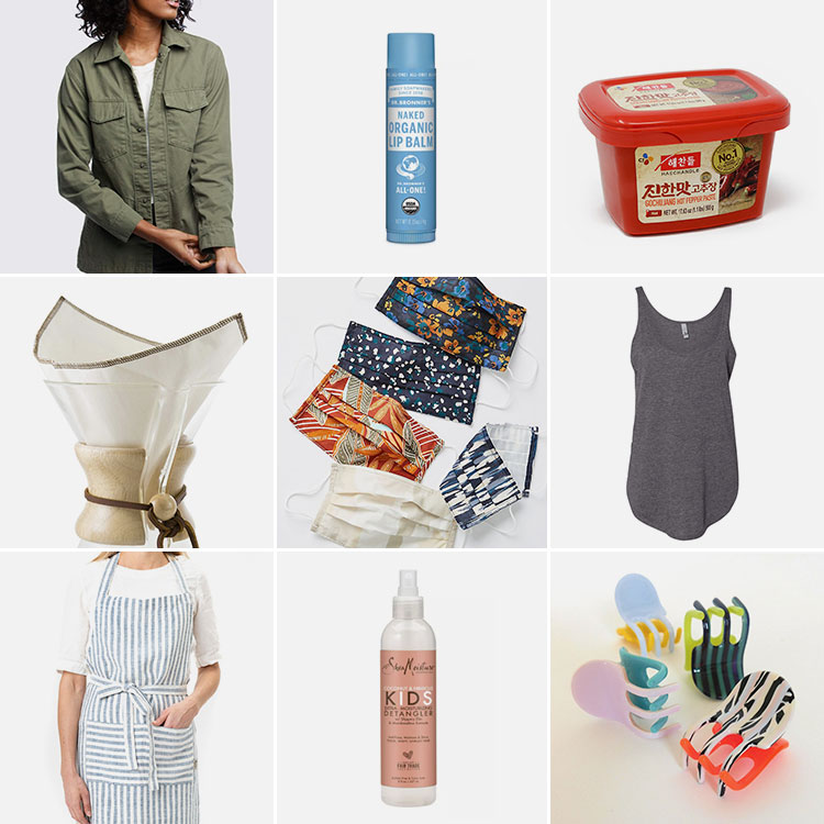 Joanna's Things of Note from June 2020 (including the perfect military jacket, Dr. Bronners lip balm, gochujang, coffeesock, the perfect summer tanktop, SheaMoisture detangling spray & more) #thingsofnote #shopping #shoppingguide #musthaves #favoriteproducts