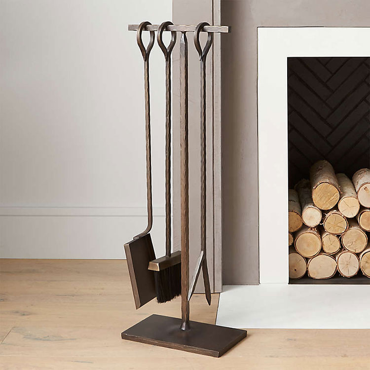 15+ Modern Fireplace Tools to Help You Stay Cozy All Winter Long! Chic and stylish hearth and fire tools to tend to your woodstove or fireplace