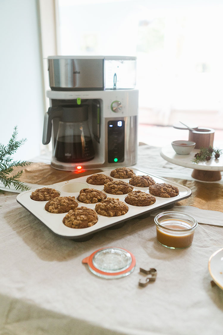 A modern twist on a traditional coffee cake recipe — actually made with coffee brewed in the Braun MultiServe coffee maker! @braunhousehold_na #AD This well-designed coffee machine brews coffee in 7 different sizes (like a single cup of coffee… or a full carafe!), all without wasteful pods. Plus, it brews over ice so you can get the perfect iced coffee at home. #AD