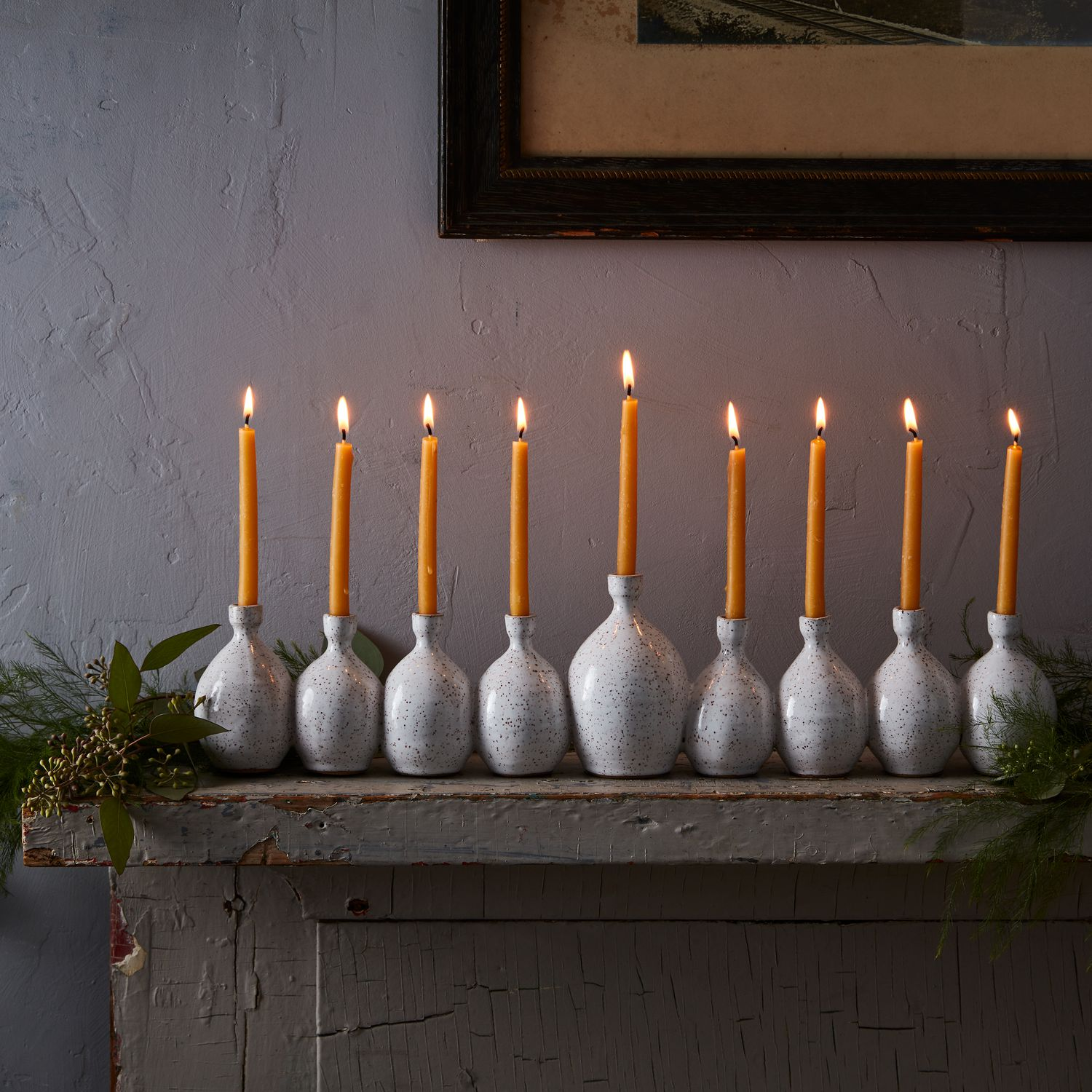 Food52 RachelPots Handmade Ceramic Menorah