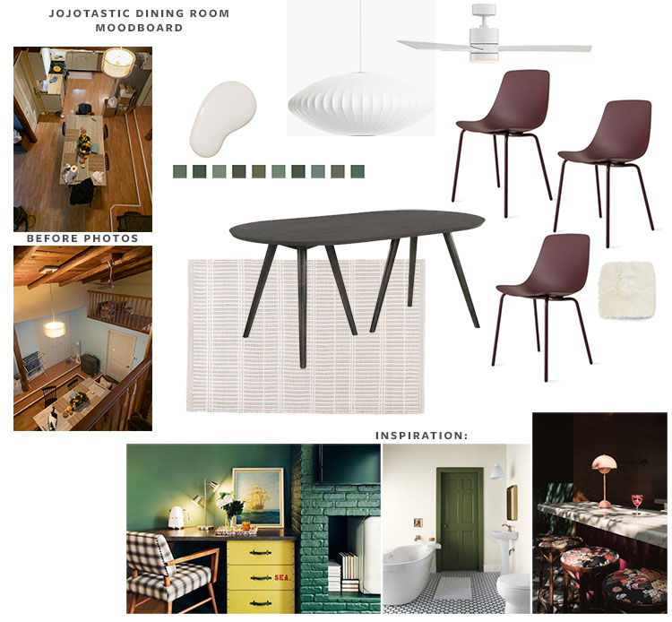 My design plan for our dining room in the new cabin + tips on how I begin a new design project on jojotastic.com