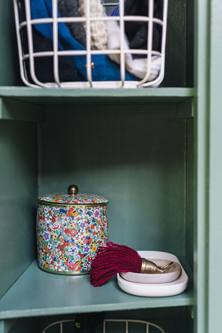 Open Spaces Review + Entryway Essentials To Create a Mudroom (even if you don't have one!) including stylish modern storage, shoe rack, nesting trays, metal wire baskets, and felted wool bins. Perfect for storing dog toys and leashes, extra winter accessories and more in a small entryway.