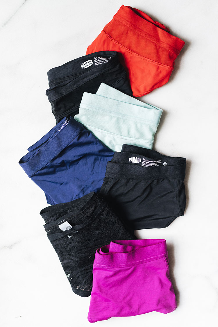 My unbiased and unfiltered review of Parade underwear including the bikini and high-rise hipster underwear! tips and tricks from a textile designer and fabric expert to help you be a more informed consumer and better shopper. Full review including washability, inclusivity, fit, sustainability and ethical practices.