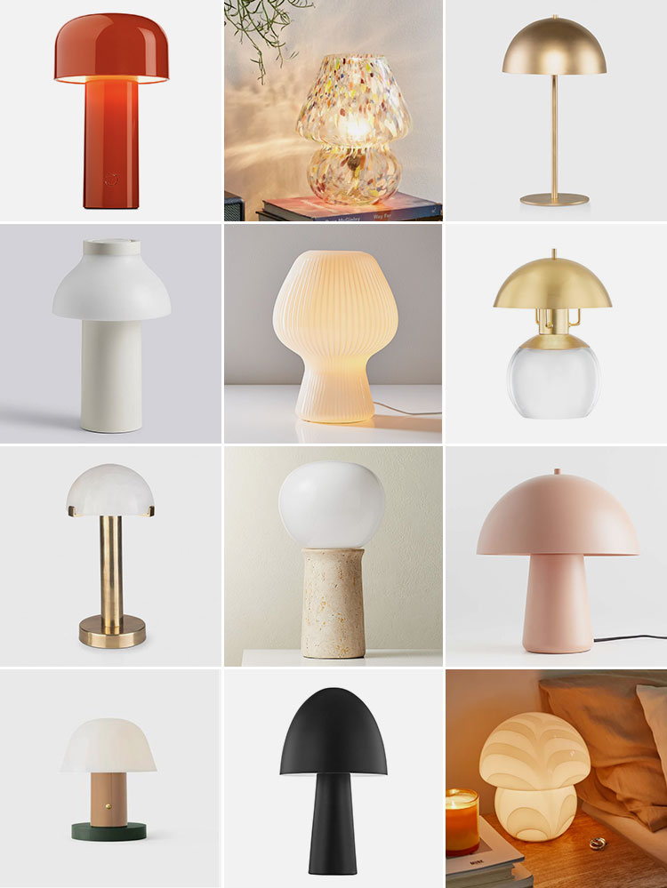 Shop The Lighting Trend: 13 of the Best Mushroom Lamps for accent lighting on a nightstand, sideboard, side table, or bookshelf