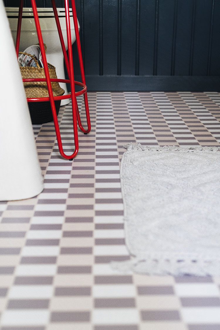 All about Chasing Paper Peel and Stick Floor Tiles, a full review of temporary flooring, how to install, how to care for it, the pros and cons + more!