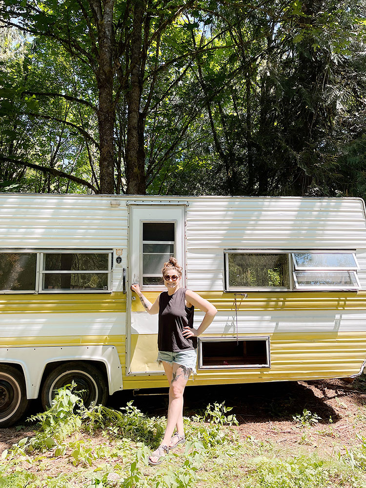 My new vintage trailer, 1970s road ranger camper. A quick life update about my health, our cabin, our pets, my business, and more.