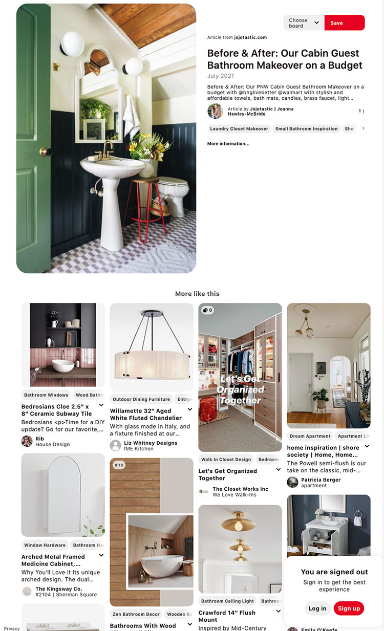 My best tips & tricks for how to use Pinterest for design inspiration while renovating and decorating your home!