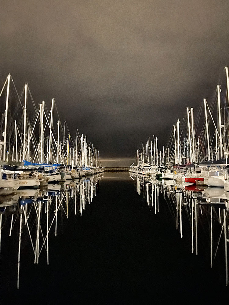 moody photography of sailboats in Seattle, Puget Sound. A quick life update about my health, our cabin, our pets, my business, and more.