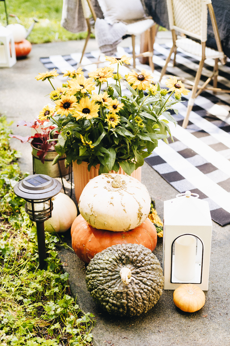 Fall outdoor decor patio refresh for autumn with @bhglivebetter @walmart with stylish and affordable fall plants including mums and lavender, garden pots, outdoor dining essentials and more. Shop the post & learn more on jojotastic.com #BHGlivebetter #walmart #betterhomesandgardens #AD